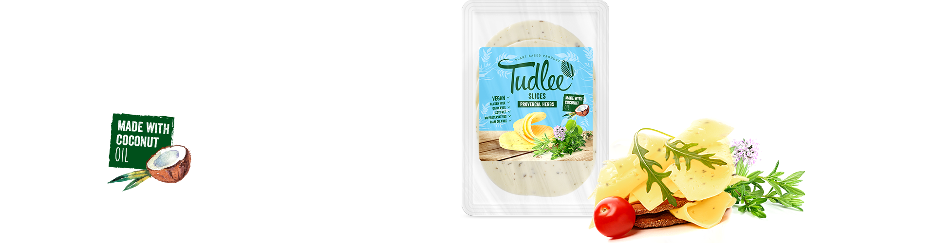 Tudlee Slices Provencal herbs - vegan