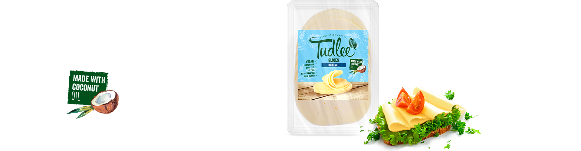Tudlee Slices Original - vegan