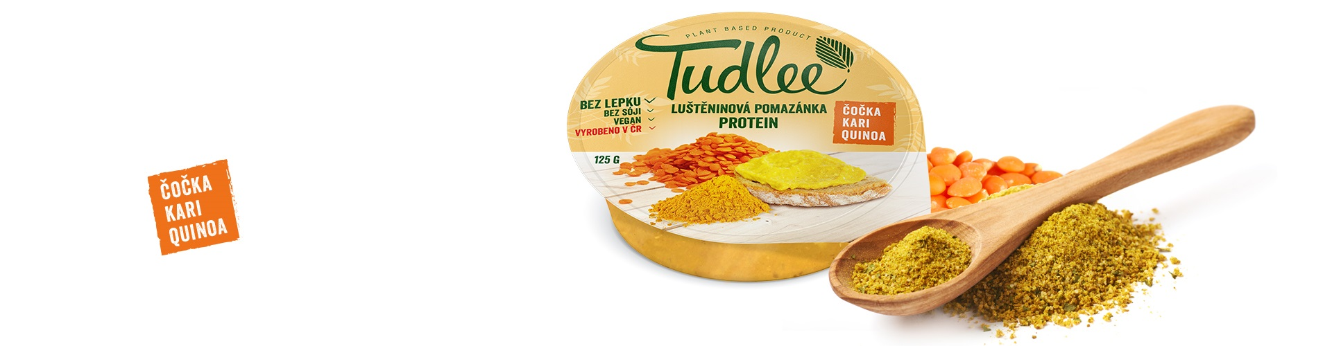 Tudlee protein lens, quino and curry