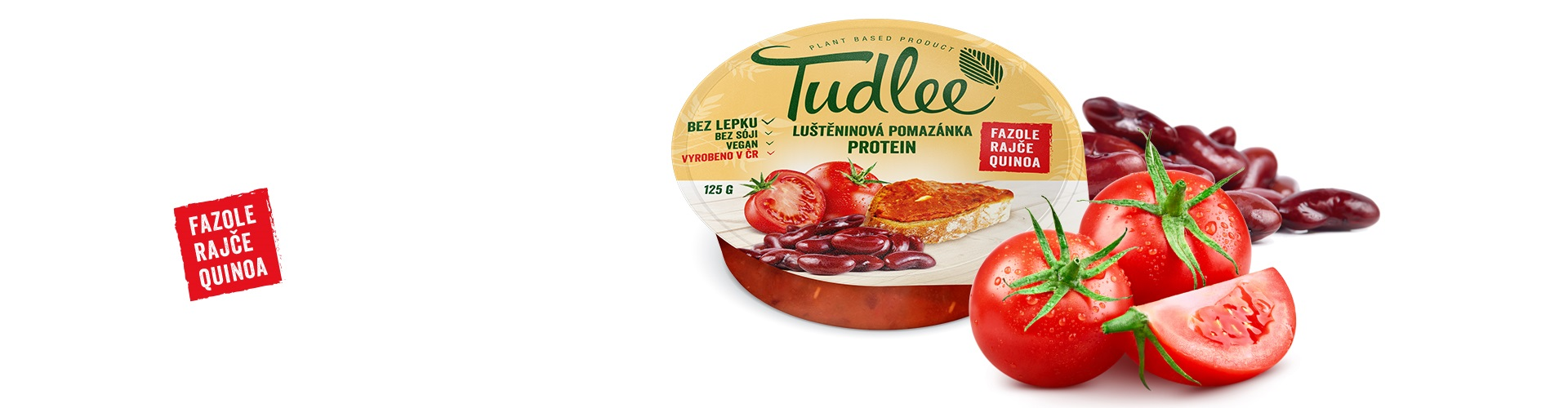 Tudlee protein - bean quinoa and tomato